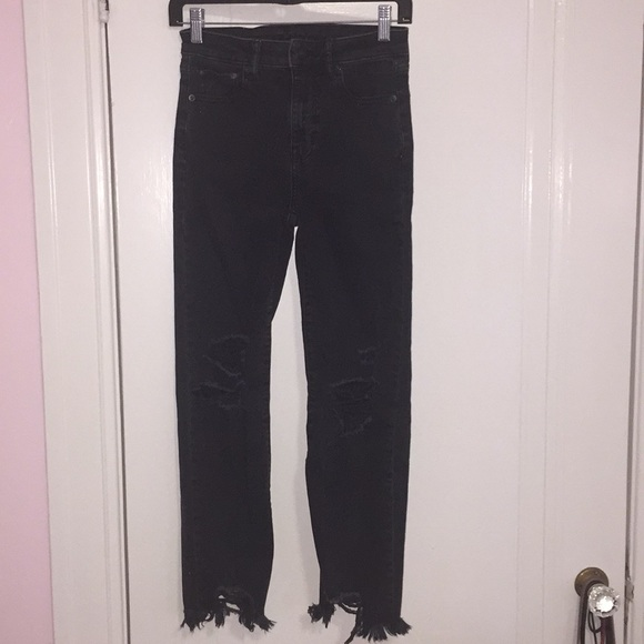 American Eagle Outfitters Denim - Ripped Black American Eagle Outfitters Jeans